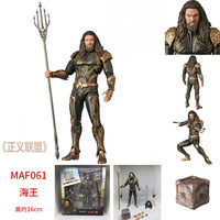 16cm Justice League Aquaman Action figure toys doll collection Christmas gift with box