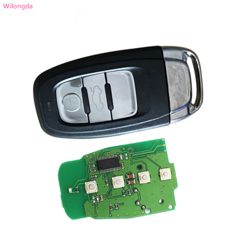 Wilongda Unkeyless 3 button car key remote control 868mhz For Audi Q5 A4L A5 A6 A7