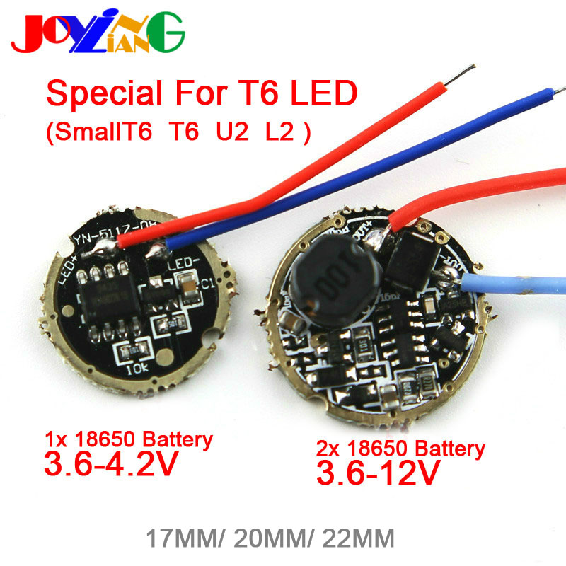 JOYING LIANG T6 L2 U2 10W Lamp Flashlight shift Control PCB Board accessory Drive Plate Circuit Board 5 Modes