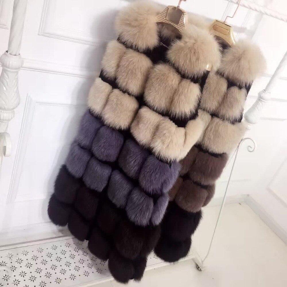 Et Plus Mince La Wj1147 Automne Picture Couleur Lapin Renard Nouvelle D'hiver Imitation Long De Couture S Fourrure Manteau Gilet Taille xxxl XXArq