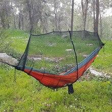 275 г сверхлегкий портативный гамак москитная сетка для выживания на открытом воздухе нейлоновая сетка от комаров с супер размером 340*140 см
