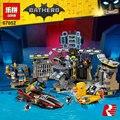 Lepin 07052 1047 unids Genuino Nueva Serie de Películas de Batman Baticueva Break-in Building Blocks Ladrillos Educativos Juguetes Regalos 70909