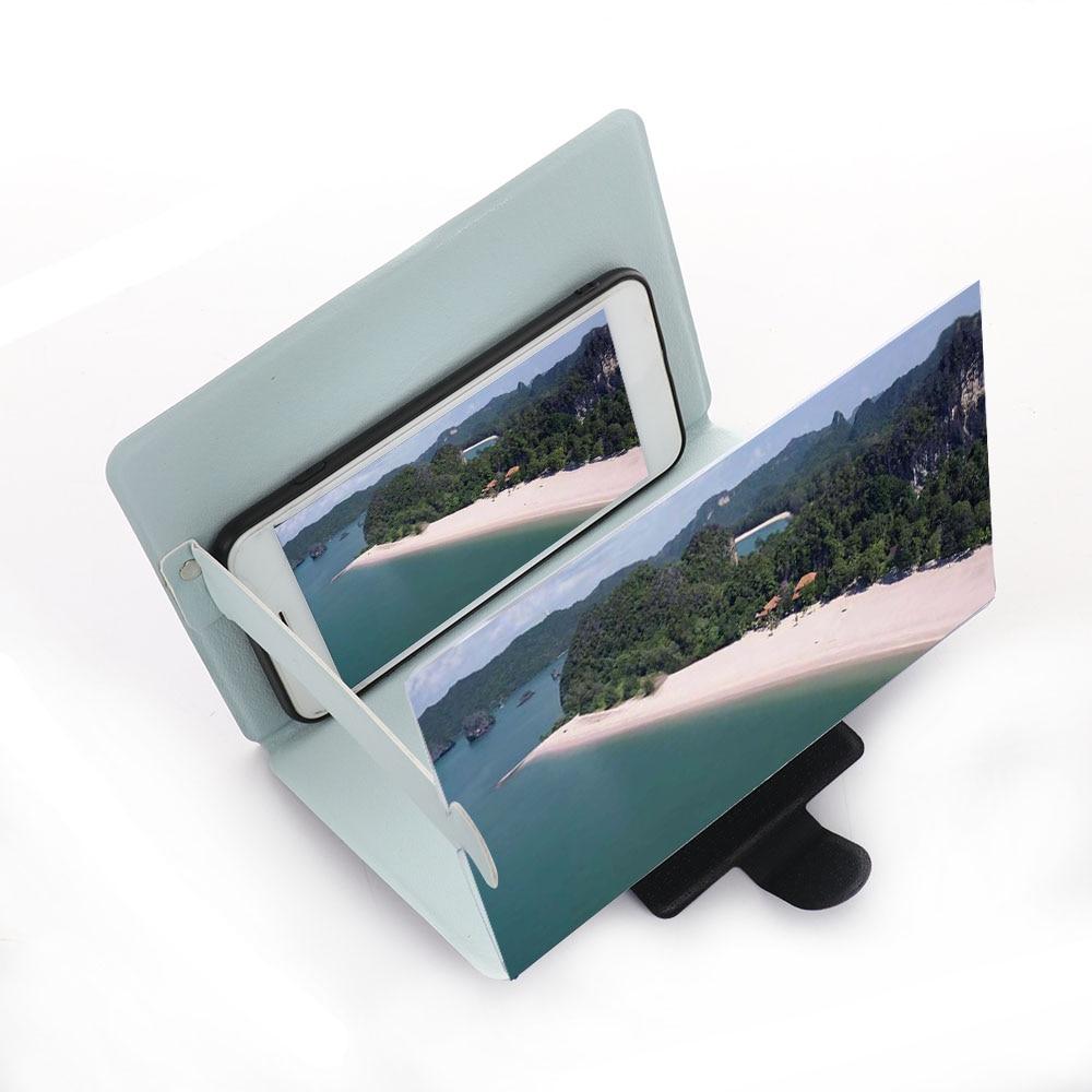 HTB1SgRNXoT1gK0jSZFrq6ANCXXaM 3D Phone Screen Magnifier Stereoscopic Amplifying Desktop Foldable Leather Bracket Mobile Phone Holder Tablet Holder dropshippin