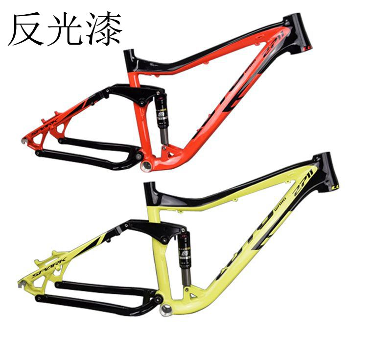 original LUTU 2711 four link soft tail frame mountain bike frame bicycle rear suspension downhill frame mountain bike four perlin disc hubs 32 holes high quality lightweight flexible rotation bicycle hubs bzh002