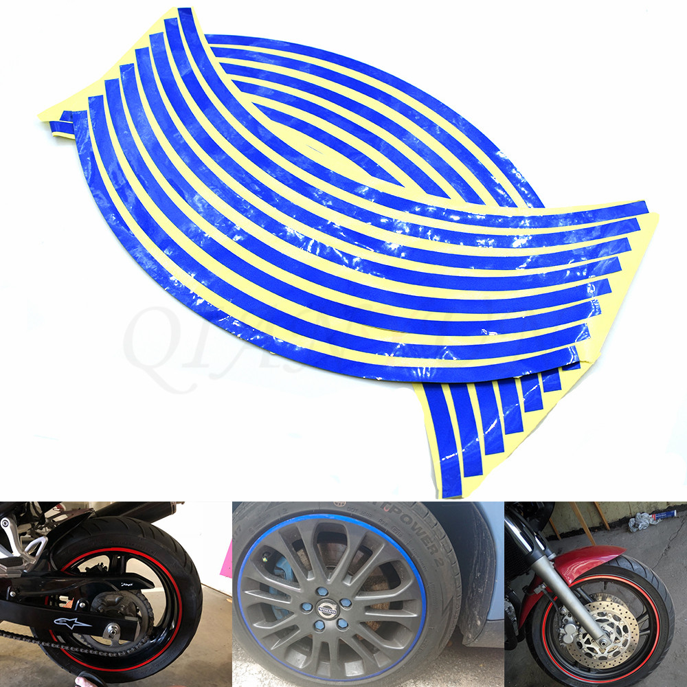 Motorcycle Styling Wheel Hub Tire Reflective <font><b>Sticker</b></font> Car Decorative Stripe Decal For <font><b>Suzuki</b></font> <font><b>GSXR</b></font> <font><b>600</b></font> 750 1997-2003 GSXR1000 image