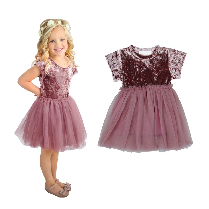WEIXINBUUY Kid Girls Princess Baby Dress Infant Baby Girl Clothes Purple Shaqun Tutu Ball Gown Party Dresses
