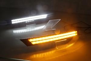 Image 5 - Car Flashing 2Pcs For Mazda CX 5 CX5 2017 2018 2019 DRL LED Daytime Running Light With Yellow Turning Signal night blue fog lamp