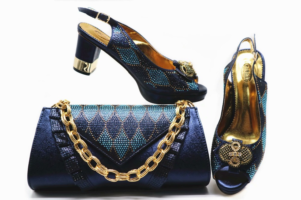 Navy blue italian shoes and bag matching set low heel 2.95 inches 2019 new arrival shoes clutches bag size 38 to 43 SB8338-3Navy blue italian shoes and bag matching set low heel 2.95 inches 2019 new arrival shoes clutches bag size 38 to 43 SB8338-3