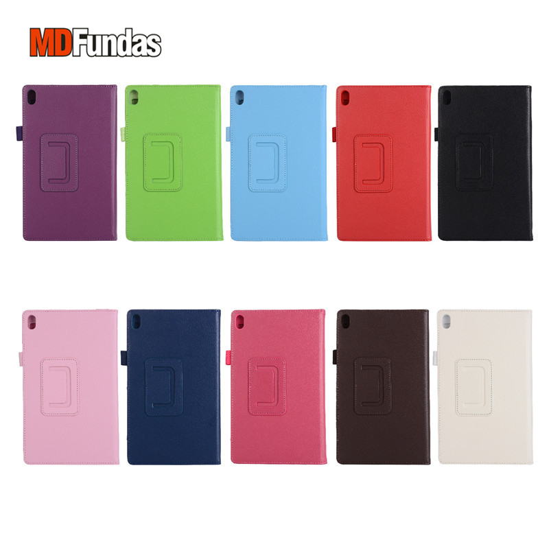 MDFUNDAS Solid Color Tablet Cover For Lenovo Tab 4 8 Plus TB-8704F TB-8704N Leather Fundas For Lenovo Tab4 8 Plus Case +Film for lenovo tab 4 8 plus tb 8704x soft silicone back cover for tab4 plus tb 8704f tb 8704n 8 tablet stand case
