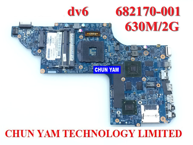 Comercio al por mayor placa madre del ordenador portátil 682170-001 para hp pavilion dv6 dv6-7000 630 m/2g notebook pc systemboard 100% probado 90 días garantía