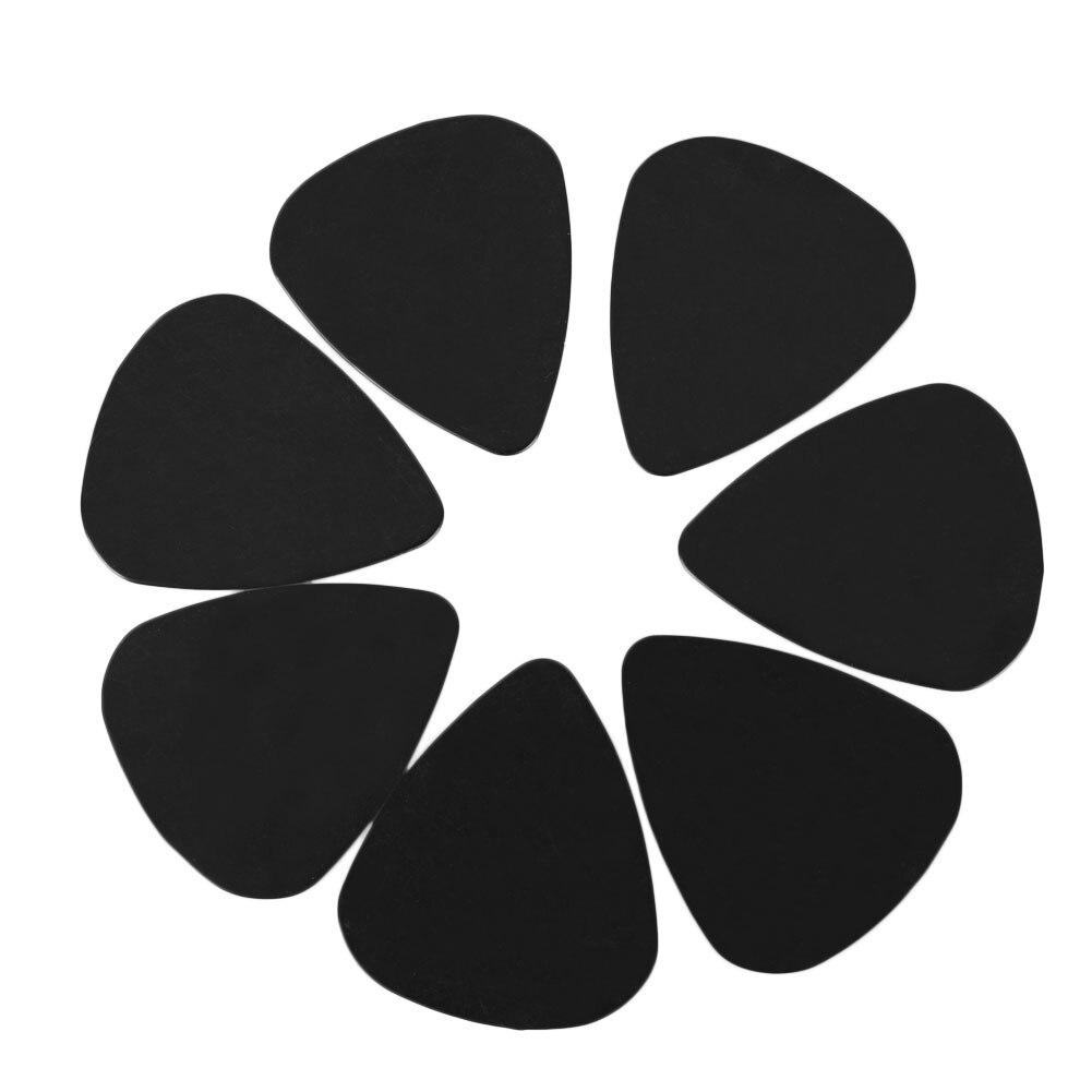 100 Unids Negro Las Púas Celluloid Pesado 0.71mm Selecciones de la Guitarra Acús