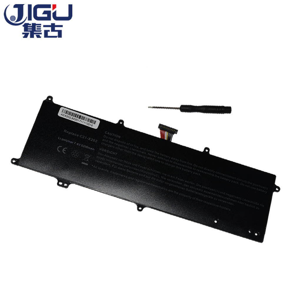JIGU Genuine Battery VivoBook S200 S200E X202 X202E X201 X201E S200E-CT209H S200E-CT182H C21-X202 C21X202 For Asus high quality touch screen lcd display panel sreen with frame upper half set for asus 11 6 vivobook x202e q200e s200 s200e