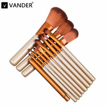 Vander Golden 12pcs/set Professional Makeup Brushes Tools Set Brush Kits For Face Eye Shadow Palette Cosmetic Pincel Maquiagem