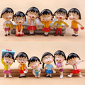 6 шт./лот 5 см ПВХ каваи милый Японский классический аниме рис Чи-би Maruko фигурку набор collectibe модель игрушки