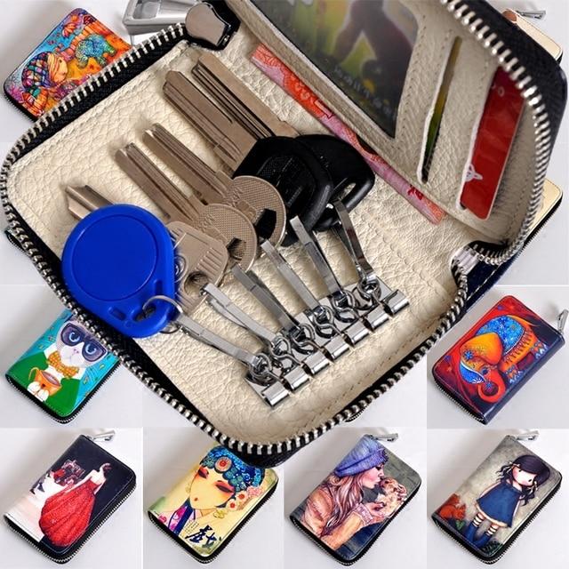 Animal Prints Key Wallets Fashion Key Holder Causal  Key Bag High Quality Key Bag  Free Shipping  Key Case Girls With Zipper