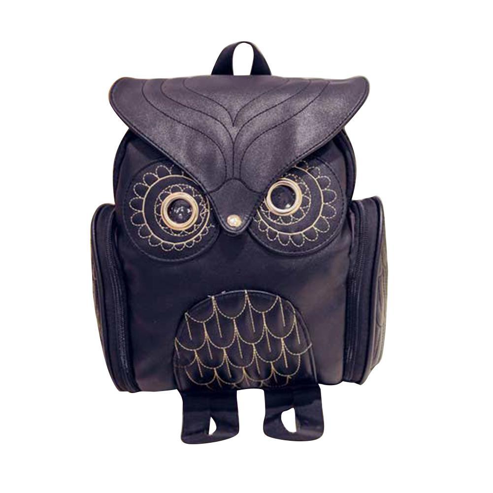 Zipper Animal Owl Shape Solid Color Women Backpack School Travel Bag Leather Shoulder Bag Backpacks For TeenagersZipper Animal Owl Shape Solid Color Women Backpack School Travel Bag Leather Shoulder Bag Backpacks For Teenagers
