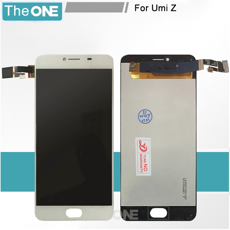 ФОТО Black/White For UMi Z LCD Display+Touch Screen Tested Digitizer Glass Panel Replacement for umi z lcd