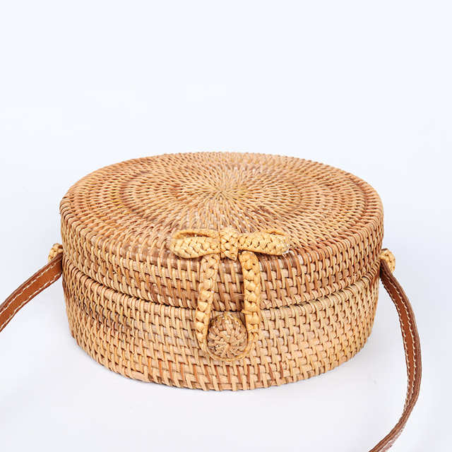 ARPIMALA 2018 Round Straw Bags Women Summer Rattan Bag Handmade Woven Beach Cross Body Bag Circle Bohemia Handbag Bali 1