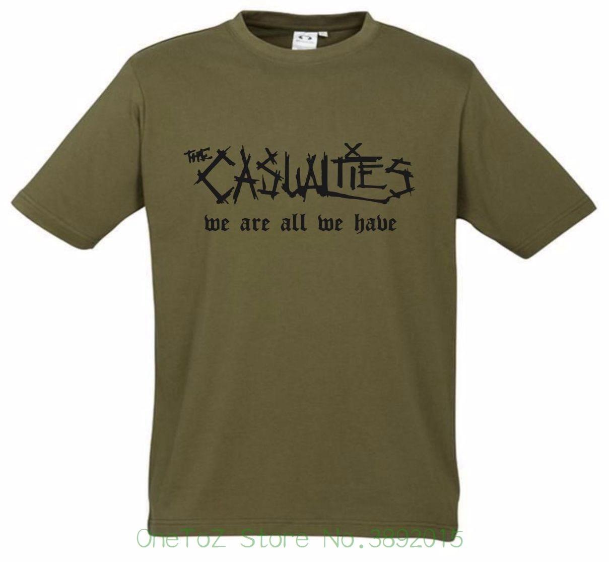 2018 Новый Для мужчин футболка потери футболка новый хаки Редкие футболка S-XXL улица панк хардкор рок