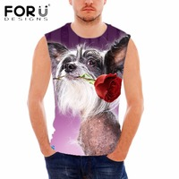 FORUDESIGNS Men S Cotton Sleeveless Tank Top 3D Hotel For Dog Printed Bodybuilding Male Workout Tanks