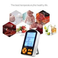Digital Thermometer Timer LCD BBQ Cooking Food Tool Meat With Heat Resistance Stainless Steel Dual Probe