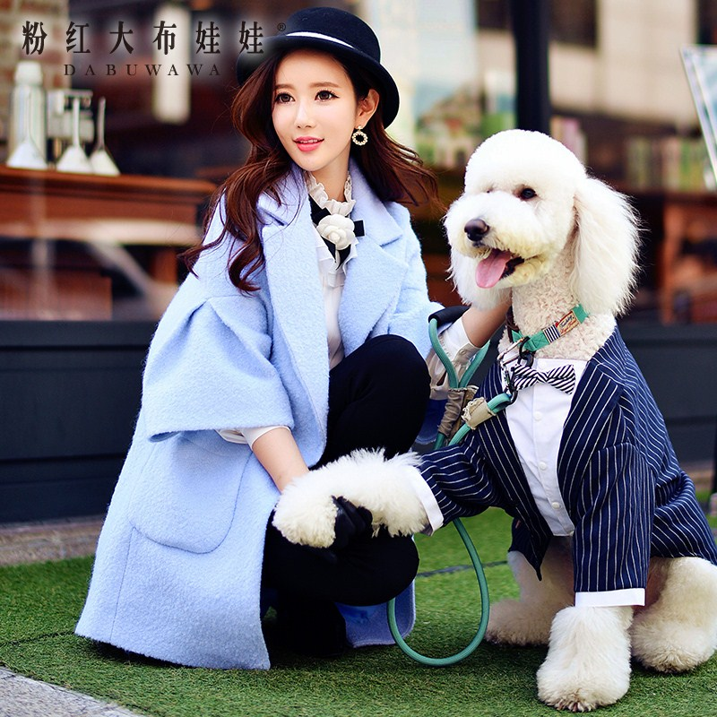 original wool outerwear 2017 autumn and winter large turn down collar big sizes pocket loose casual fashion coat women