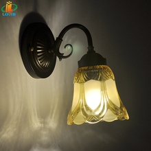 Nordic Wall lamp bedroom glass creative personality living room simple modern corridor lamp headlight mirror bedside lamp