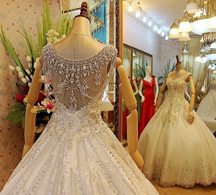 Real Photoes!!2015 Luxury Import Crystal Diamond Ball Gown Handmade ...