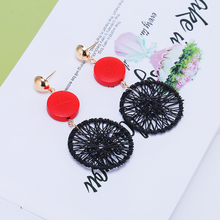 2019 Best Selling Small Fresh Korean Version Wood Female Drop Earrings &5 Color Pink Natural Brincos For Women Bride Jewelry