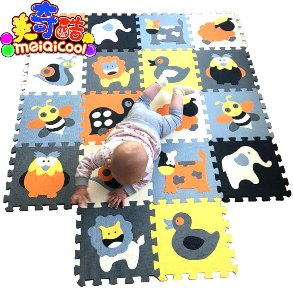 MEIQICOOL развивающий детский игровой коврик-пазл, экологический нетоксичный коврик для ползания, детский Поролоновый игровой коврик, Детский ...