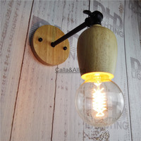 Big Promation American Loft Industrial Retro Wall Lamps Vintage Bedside WallLight Cage Lampshade E27 With Edison
