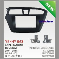 Liislee For Hyundai i20 (LHD) 2014~2015 Car Radio ABS Fascia Plate Panel Frame Kit / Stereo Facia Surround Install Trim Fit Dash