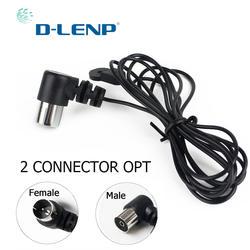 Dlenp антенны FM антенна 75Ohm UNBAL для звука натуральный звук стерео приемник для fm-радио/Hi-Fi/DAB/tv внутреннего использования черный