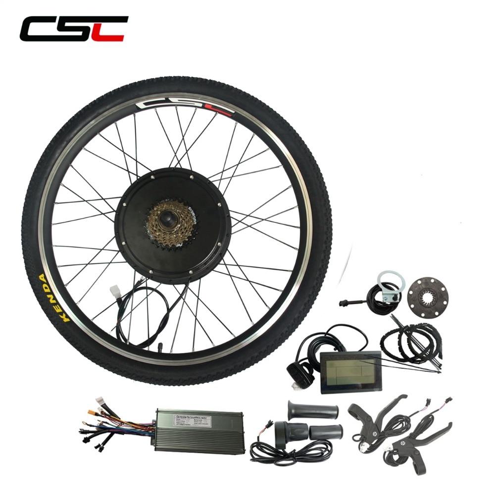 "Conversion Kit Cycling Motor 48V 1000W 1500W 20/"" 24/"" 26/"" 700C E Bike Motor"