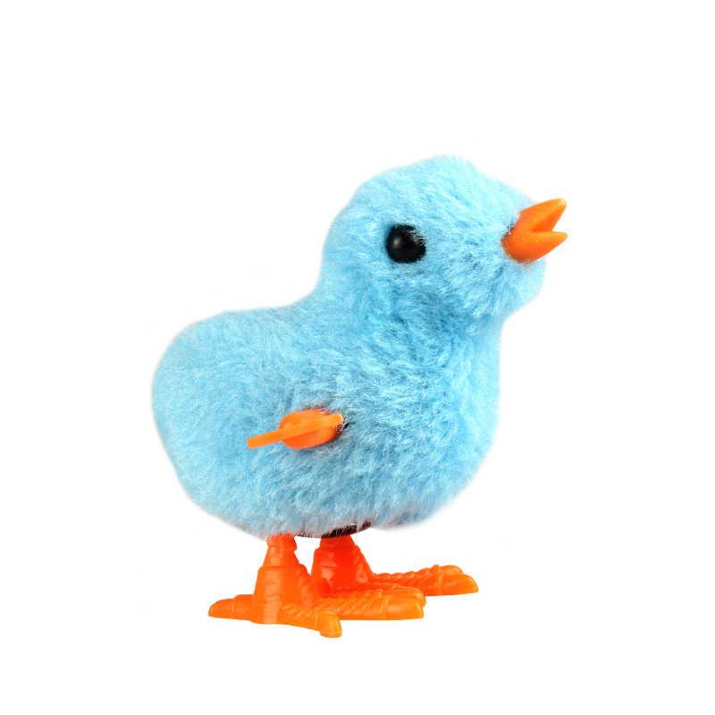น่ารัก Plush Wind Up Chicken Clockwork กระโดดเดิน Chicks ของเล่นเด็กเด็กของขวัญเด็กการศึกษาของเล่นสีสุ่ม
