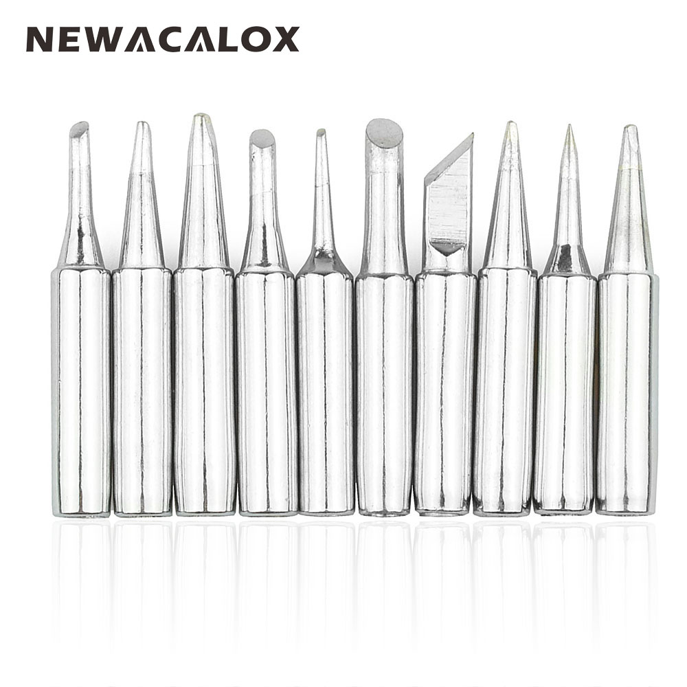 NEWACALOX 10pcs Lead-free Solder Screwdriver Iron Tip 900M For Hakko Rework Soldering Station Tool 10pcs solder iron tips for hakko soldering rework station