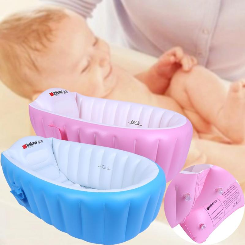 1 Set Portable Baby Bathtub Inflatable Bath Tub Child Safety Tub Thickening Washbowl Baby Bath For Newborns Swimming Pool