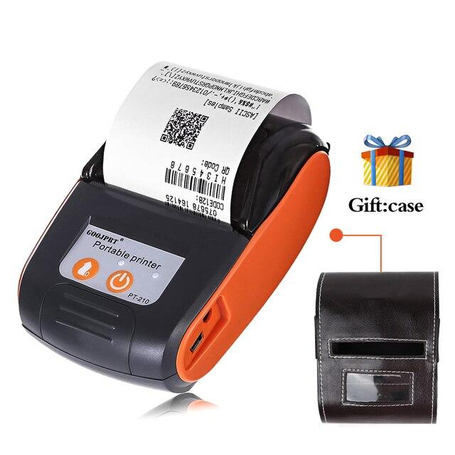 Mini impresora portátil inalámbrica de boleto del recibo de Bluetooth de 58mm para la impresora de la tienda de la máquina de Bill del teléfono para la tienda