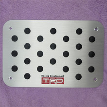 For TOYOTA ALPHARD Sienna PREVIA WISH VENZA HIACE ZALAS RAV4 CAMRY Corolla Universal Floor Carpet Mats Pedal Pads Footrest Plate
