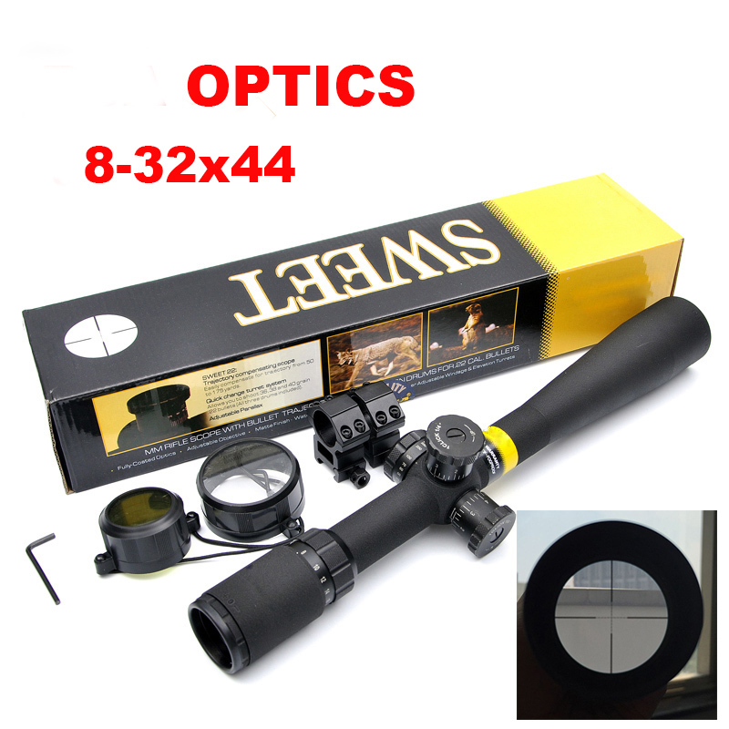 OPTICS 8-32x44 AO Mil-Dot Rifle Scope Side wheel Parallax Adjustment Riflescope Front Sight For Sniper Rifle Hunting Caza tactical 8 32x44 mil dot rifle scope side wheel focus free 30mm rail mounts outdoor riflescope for hunting caza