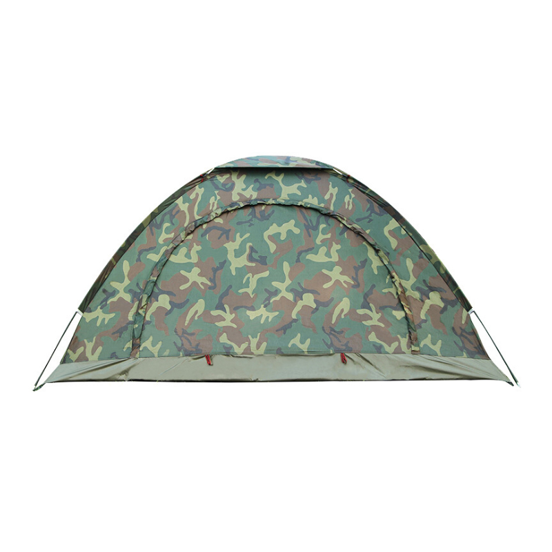 1pcs Portable Outdoor Camping Camouflage Tent Outdoor Camping Recreation Double Couple Camping Tent Ultraviolet-proof Tent rain proof double layer camping tent for outdoor activities green