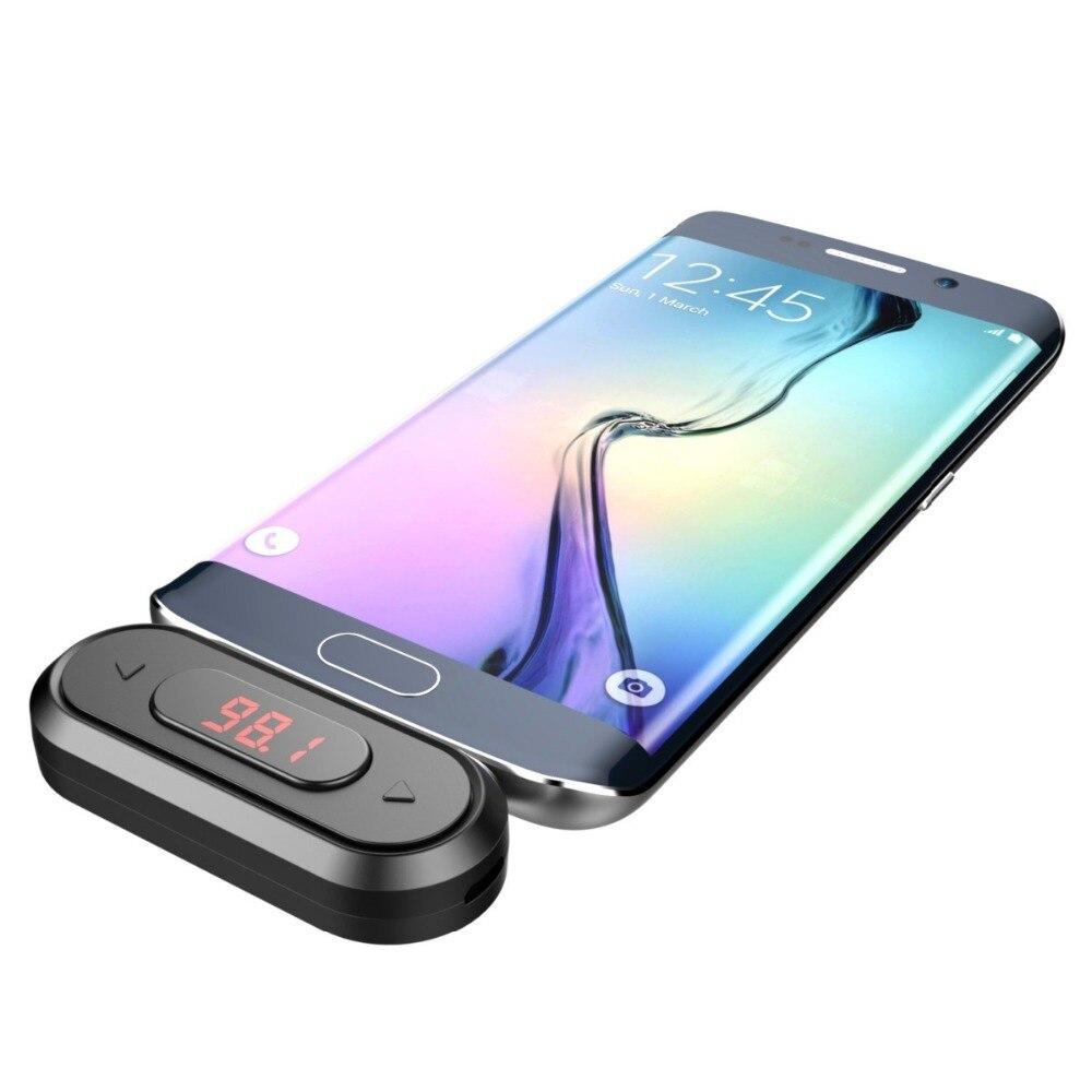 Doosl FM Transmetteur Appels Mains Libres Sans Fil Audio Émetteur Radio Adaptateur 3.5mm Jack pour iPhone IOS Android De Voiture spearker