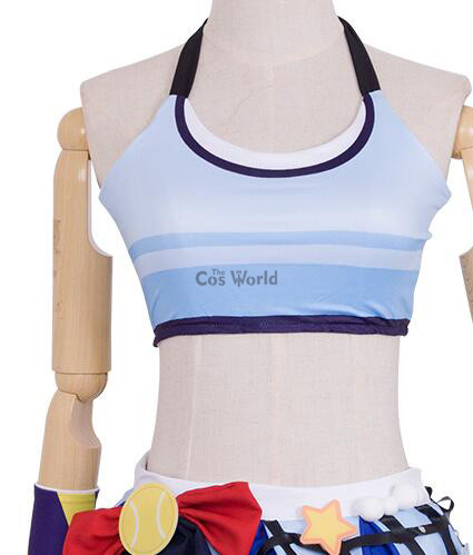 f55a57349da1 Love live school idol project sonoda umi tennis boob tube tops dress  uniform outfit anime cosplay costumes