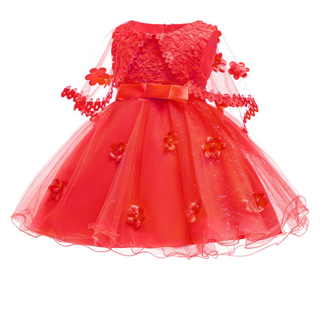 Girls Dresses Princess Birthday Party Girls Clothes Pearl Flower Sleeveless Wedding Dress Ball Gown For Baby Girls