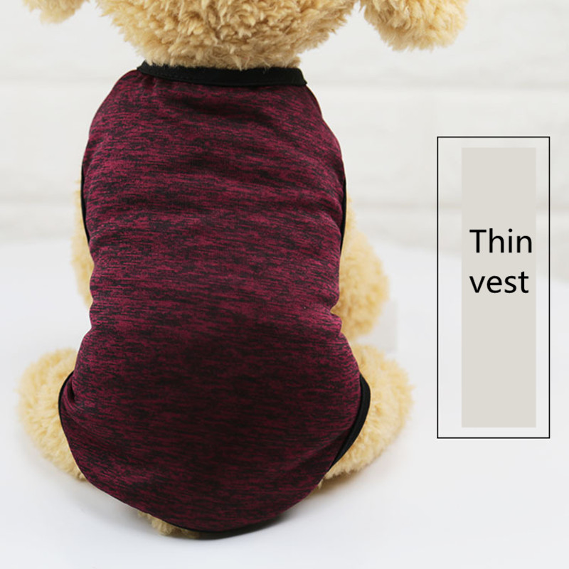 2019 classic Pet Clothes for Small Dog Girl Dog Boy Summer thin section dog grooming Gray orange accessories t-shirt AprT3 (4)