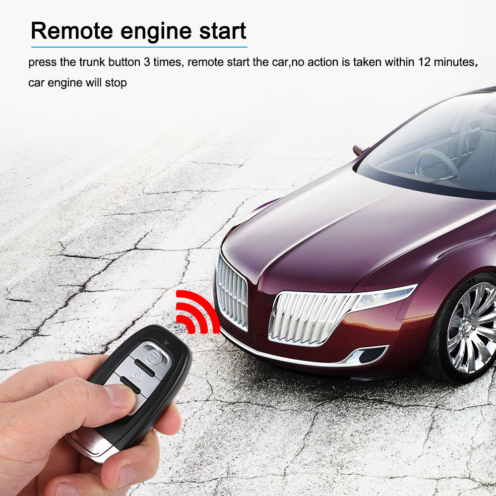 где купить Auto Car Alarm Engine Start Stop Button Remote Start Open and Close Windows Version Smart Key PKE Passive Keyless Entry System по лучшей цене