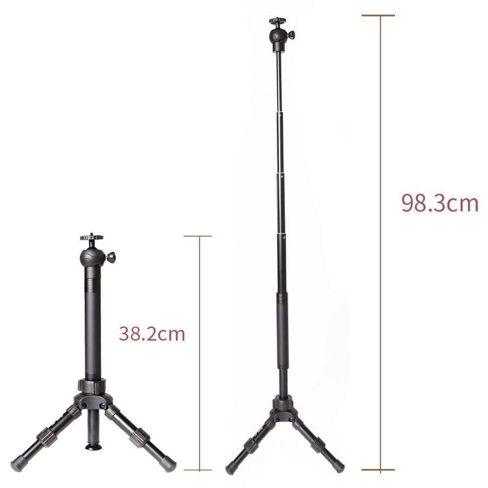 XILETU XB-2C MINI Flexible Portable LightWeight TableTop Tripod For GoPro  DSLR And Smartphones