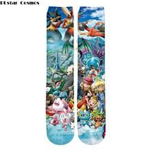 Plstar Cosmos Harajuku стиль мультфильм печать Покемон мужские и женские носки 3D высокие носки мужские и женские Высокое качество Прямая