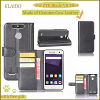 KLAIDO Genuine Cow Leather Mobile Phone Case For ZTE Blade V8 Mini Phone Case For Blade