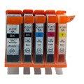 5 x PGI-550 CLI-551 Cartuchos de Tinta PGI550 PGI 550 CLI 551 para impressora canon pixma mg5450 mg5550 ix6850 mx725 mx925 ip7250 mg6450